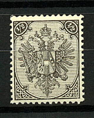 Bosnia and Hertzegovina 1879 1/2k Black Arms Value at Top sg106 1v Mint Stamp