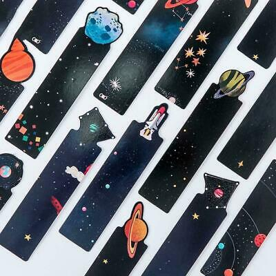30pcs/set Flying to the Universe Planet Bookmark Cards For Books Tab Statio X7S3