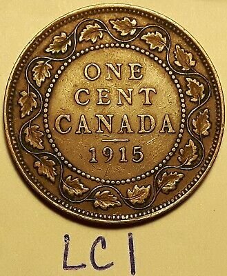 1915 Canada Large Cent King George V LC1b