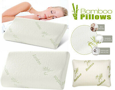 3 Sizes Anti Bacterial Contour Bamboo Memory Foam Pillow Orthopedic Support