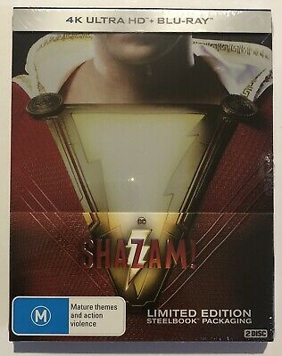 Shazam! (4K UHD & Blu-Ray) Steelbook Brand New & Sealed Aus Region B DC Comics