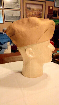 Wwi To Wwii Army Usmc Navy ? Khaki Garrison Cap With Name And Serial Number