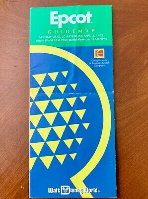 Walt Disney World Epcot Center Guide Map 1995 -  Wonders of Life Attraction