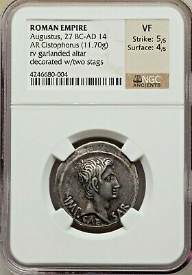 Roman Empire Augustus 27 Bc - 14 Ad Cistophorus Ancient Roman Empire - Ngc Vf