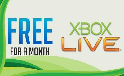 Microsoft 1 Month(30days) trial Xbox live  EMAIL DELIVERY WITHIN 24HR