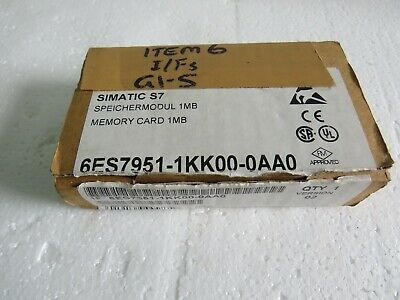 "SIEMENS 6ES7951-1KK00-0AA0  SIMATIC S7, memory cards for S7-300, "" Fast Ship """