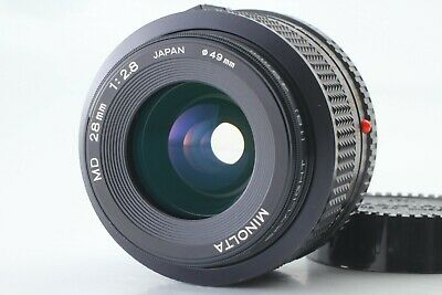 [7 Elements Mint] MINOLTA NEW MD 28mm f/2.8 Wide Angle Lens From Japan #a187