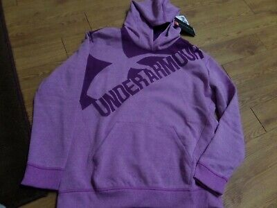 bnwt-Girls Under Armour Hoodie Sweatshirt YXL Loose fit-threadborne-purple