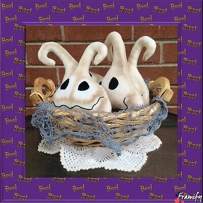 Primitive Ghosts Halloween Bowl Fillers, Ornies,Farmhouse Tucks