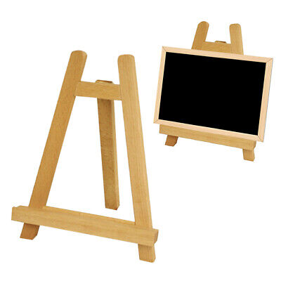 1PC Mini Wood Easel Portable A-Frame Painting Artist Photo Tabletop Tripod Stand