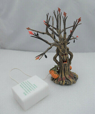 """Department 56 Halloween Village """"Lit Spooky Tree'"""" Lighted Accessory with Box"""