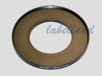46mm-77mm Filter Adaptor Ring Converts 46mm lens thread to 77mm 46-77 Step-Up UK