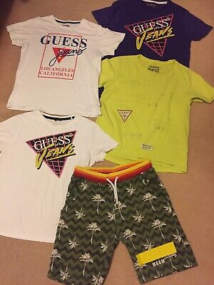 Boys Designer Bundle MSGM Shorts Guess T Shirts Age 12 14