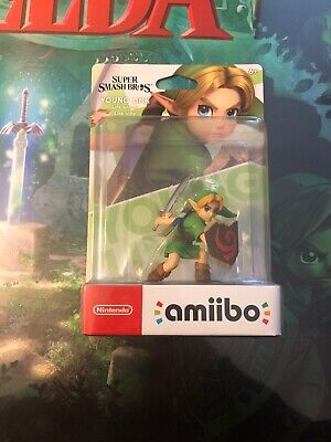 Amiibo: Young Link - SUPER SMASH BROS NINTENDO SWITCH WII U 3DS *NEW SERIES*
