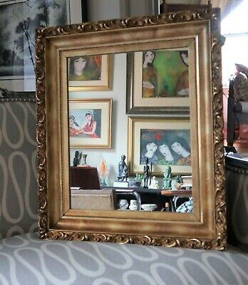 Antique Gold Leafed Frame with Mirror - 19th Century