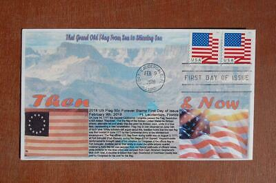 2018 US Flag 50c Forever Stamps FDC Bullfrog Sc#5260,5262 15961 Grand Canyon