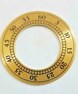 Hermle -Kieninger grandfather dial second hand chapter ring 45 mm  yellow color