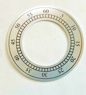 Hermle -Kieninger grandfather dial second hand chapter ring 48 mm silver
