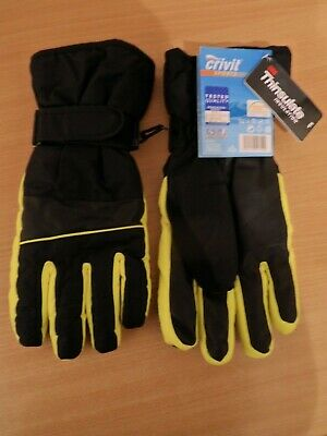 Crivit Mens Ski Gloves Size Large with Thinsulate C40 insulation