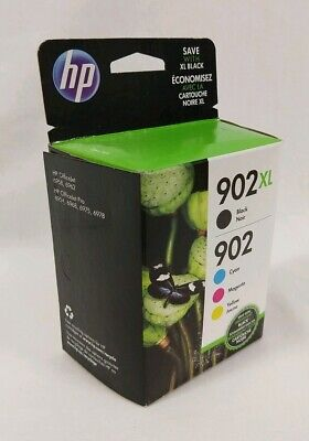 Sealed HP 902XL Black 902 Color Ink Combo Pack Genuine Cartridge Expired 07/2019