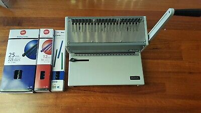Ibico Ibimatic Automatic Binder with Boxes of Binding Combs