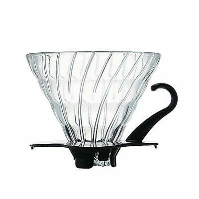 Hario V60 Coffee Dripper Heat-resistant glass For 1-4 Cups Black Japan VDG-02B
