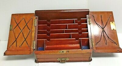 Antique English Stationery / Writing Box Circa 1860 - 1880