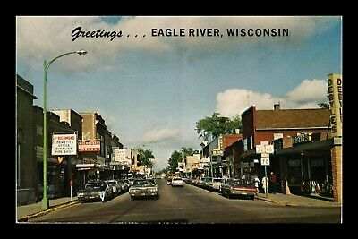 Dr Jim Stamps Us Greetings Eagle River Wisconsin Street View Chrome Postcard