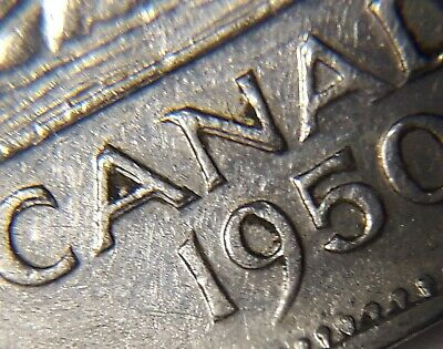 ERROR COIN 1950 Doubling of CANADA 5 Cent Nickel N132