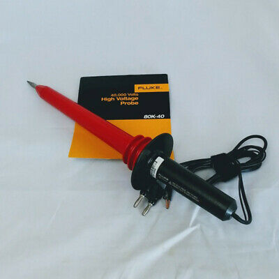 FLUKE 80K-40 High Voltage Probe Multimeter Test Probe 40000 Volts Peak AC Or DC