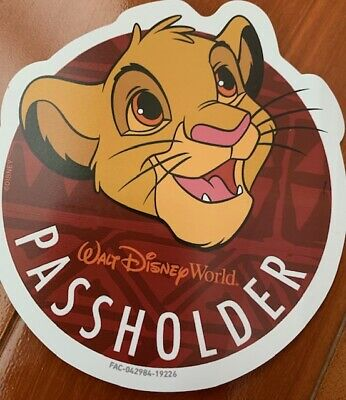 Walt Disney World Simba Magnet - Authentic Annual Passholder Magnet
