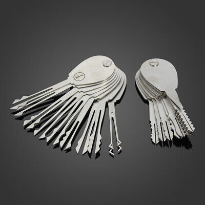 DANIU 20psc Foldable Car Lock Opener Double Sided Lock Pick Set Locksmith Tools