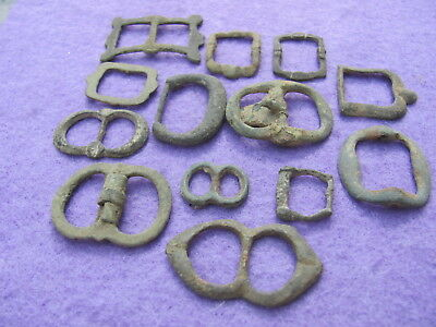 FANTASTIC Lot of (13) Bronze Buckles  Artefacts, Ancient to Post Medieval