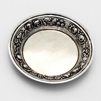 Stieff Rose Butter Pat Sterling Silver Date Mark 1941