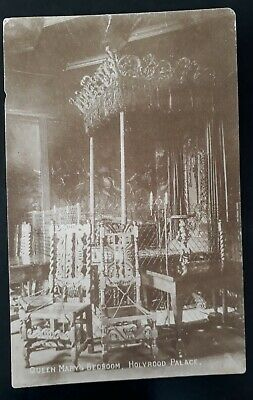 "c. 1900 Great Britain Postcard ""Queen Mary's Bedroom Holyrood Palace"" Unused"