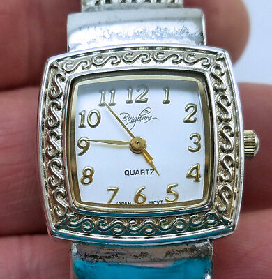 Women's Bingham Silver Plated Quartz Watch 24mm Bangle Japanese Arabic Numbers