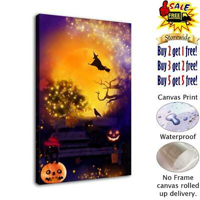 "Halloween HD Canvas print Painting Home Decor Picture Room Wall art 12""x18"""