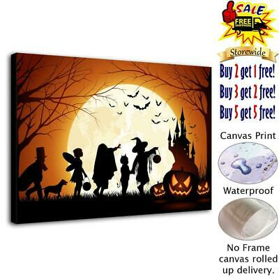 """Halloween Castle HD Canvas print Painting Home Decor Picture  Wall art 12""""x18"""""""