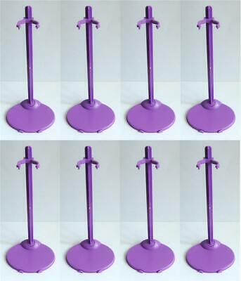 "8 PCS Purple Stands / Display For 11.5"" Doll or similar size dolls / toys -  S8"