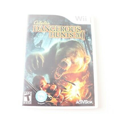 Cabelas Dangerous Hunts 2011 Wii Game with Manual Activision Video Game