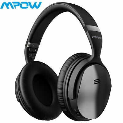 Wireless Bluetooth Active Noise Cancelling Headphones Stereo Headset Mic H5 Mpow