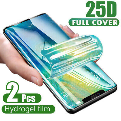 2X Hydrogel Screen Protector Film For Samsung Galaxy S9 S10 Note 8 9 10 Plus UK
