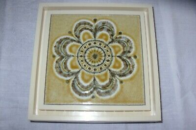 Vintage Friedland Ceramic Tile Face Door Chime/Bell C1970