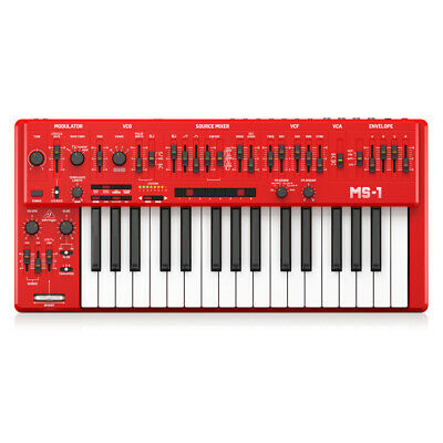 Behringer MS-101 Analog Synthesizer - Red