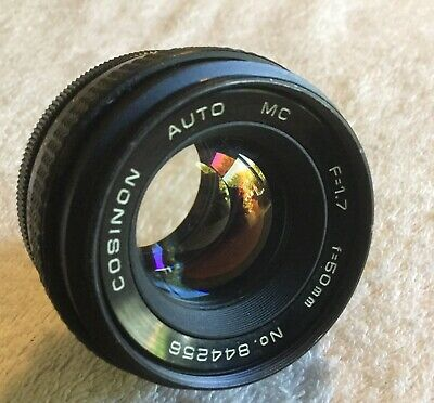 COSINON AUTO MC 50mm 1:1.7 PRIME LENS M42 MOUNT