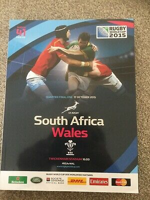 2015 IRB Rugby World Cup match 41 - SOUTH AFRICA v WALES (official programme)