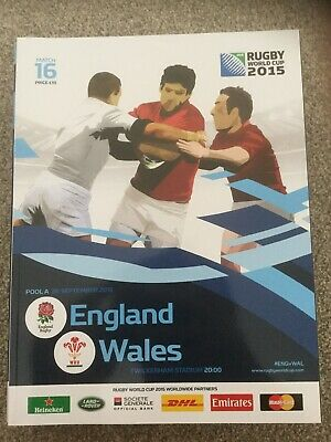 2015 IRB Rugby World Cup match 16 - ENGLAND v. WALES (official programme)