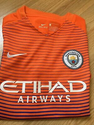 Manchester City Nike Third Shirt 2016-2017 Season Small Mans Short Sleeved
