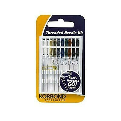 Korbond 10 Piece Threaded Needle Ideal Sewing kit for Emergency Repairs,...
