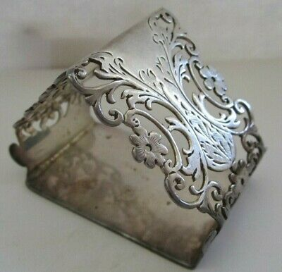 Antique Triangle Sterling Silver Napkin Ring Lot # 17 Of Collection See All